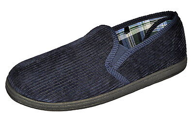 Men's Corduroy Twin Gusset Slippers Made by Dunlop **SALE**SALE**