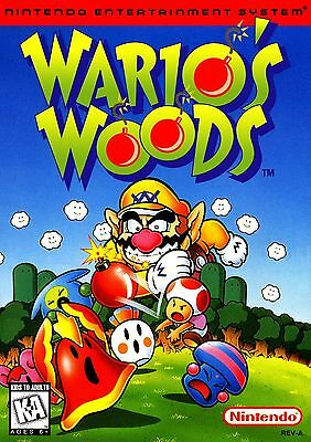 Nintendo Nes warios woods Game Poster Print A3 This A Poster