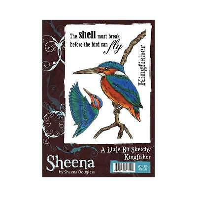 Sheena Douglass A LITTLE BIT SKETCHY STAMP SET A6 Unmounted Stamps KINGFISHER