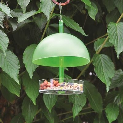 Small Hanging Seed Dome Nut Mealworm Suet Bird Feeder with Canopy UK