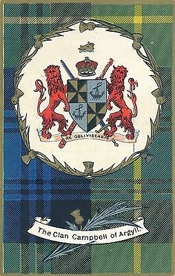 POSTCARD   SCOTLAND   The  Clan  Campbell  of  Argyll