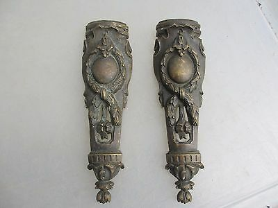 Victorian Brass Furniture Ormolu French Hardware Gilt Husks Rococo Georgian Old
