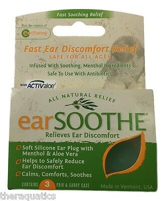 Cirrus Ear Soothe Ear Plugs Relieves Ear Discomfort Aloe Menthol Soothing Calm