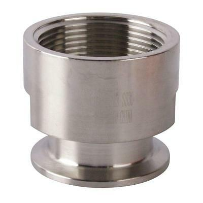 Tri Clamp/Clover to FNPT Adapter | 1.5 (1 1/2) inch x 1.5 - Sanitary SS304