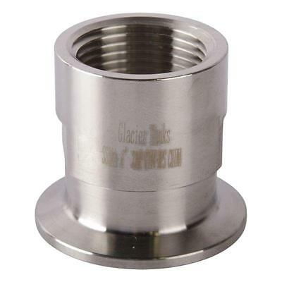 Tri Clamp/Clover to FNPS Adapter | 1 inch x 1.5 (1 1/2) - Sanitary SS304