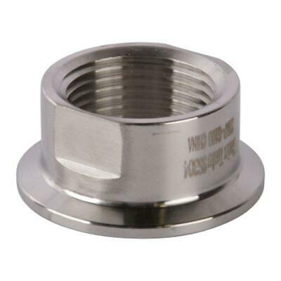Tri Clamp/Clover to Short FNPT Adapter | 1 inch x 1.5 (1 1/2) Sanitary SS304