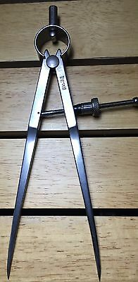 """Starrett """"fay' Spring-Type Divider 6 Inch Heavy Legs And Quick-Spring No. 77B-6"""
