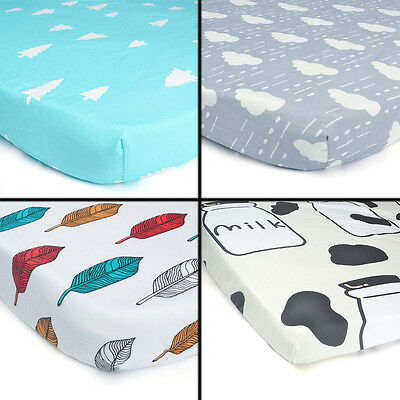 Boys Girls Brand New Baby Crib Cot Bed Fitted Sheet 100% Cotton 12 design 130x70