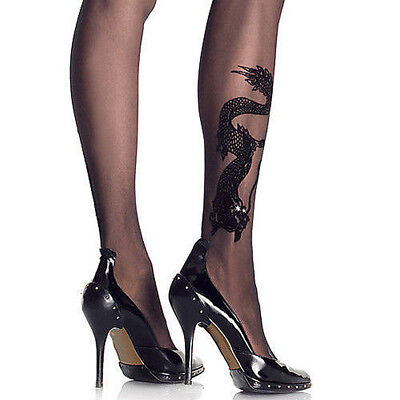 netz strumpfhose nylons str mpfe lace spitze schwarz damen. Black Bedroom Furniture Sets. Home Design Ideas