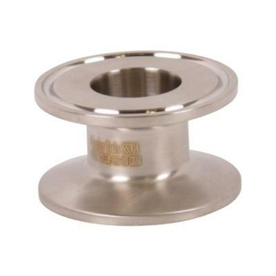 End Cap Reducer   Tri Clamp/Clover 1.5 (1 1/2) inch x 1 - Sanitary SS304