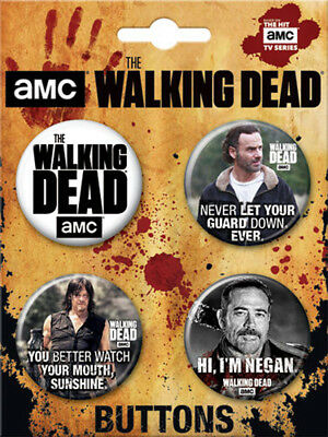 The Walking Dead  Button Four Pack 2