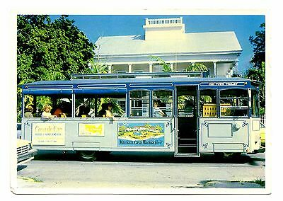 Key West Florida Postcard Old Town Trolley Captain John Lowe Home Southard St