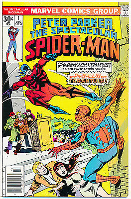 Peter Parker the Spectacular Spider-Man 1 - VF/NM 9.0 or better; Tarantula