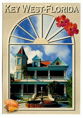Key West Florida Postcard Southernmost Home Duval Street Queen Anne Architecture