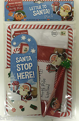Letter To Santa Pack Childrens North Pole Snowman Write Your Own Xmas List