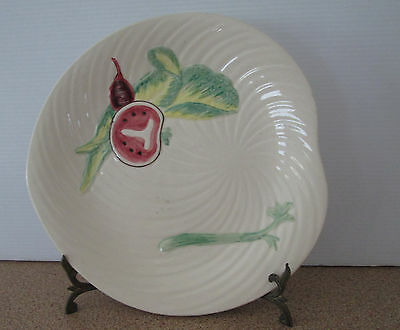 Shorter And Son Staffordshire England Plate Vegetables Embossed Handpainted