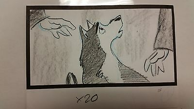 Balto Animated Film - Storyboard -Balto Petted -USSBA.009.132
