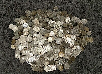 600 Roosevelt Dimes ( $60 Face Value) 90% Silver Mixed Dates, Lot