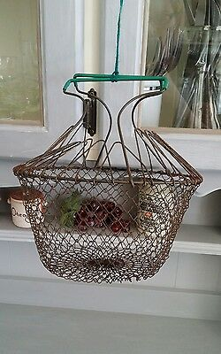 Antique Egg Basket from Chateau de Gudanes France