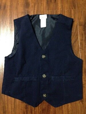 GYMBOREE BOYS Med M 7 8 NAVY BLUE VEST DRESS UP FORMAL OCCASION