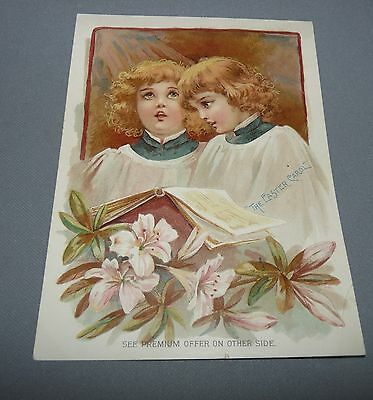 Lion Coffee Advertising Card Woolson Spice Co. Toledo OH Girls in Choir 1894