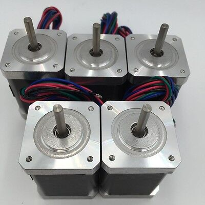 5pcs/lot Nema17 Stepper Motor 2ph 1.3A 4Wire 0.4Nm L40mm 42BYG for 3D Printer