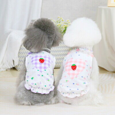 New Cute Summer Pet Puppy Small Dog Cat Pet Clothes Vest Cool Costumes