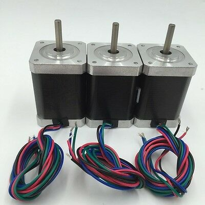 3pcs/lot Nema17 42BYG Stepper Motor L48mm 1.3A 4 Wires 0.52N.m CNC 3D Printer