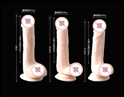 *** New Soft Silicone Sex_Dildo Anal_Toy Suction Cup Dong 3 Size Adult Toy ***