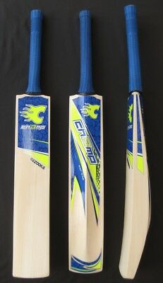 Limited Edition CHAMP T20 BAZOOKA Blue (MASSIVE EDGE) Cricket Bat PLUS FREE E...
