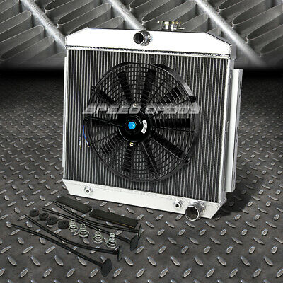 "3-Row Aluminum Radiator+1X 16""fan Kit For 55-57 Chevy Small Block 150/210 Sbc V8"