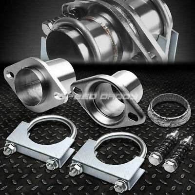 """2.5""""header/exhaust Pipe Collector Ball/donut Flange+Clamp Replacement/repair Kit"""