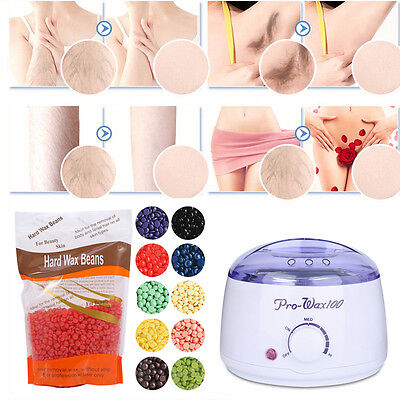 300g Depilatory Hot Hard Wax Beans Pellet Waxing Effective Body Hair Removal New