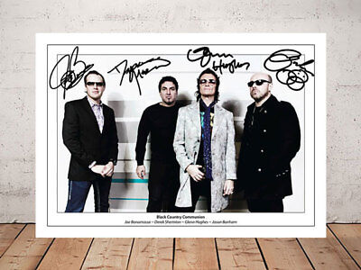 Joe Bonamassa Glenn Hughes Black Country Communion Autograph Signed Photo Print