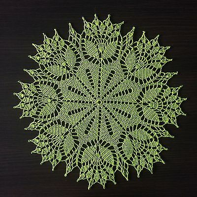 Springtime - Handmade Crochet Lace Doily/Wall Decoration/Tablecloth (Green)