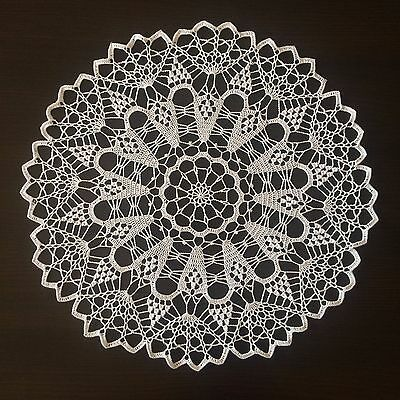Handmade Lace Crochet Doily/Centerpiece/Tablecloth/Wall Decor (White Collection)