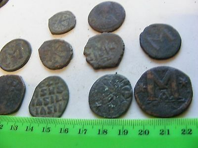 Lot of 10 Ancient Byzantine Copper Coins LARGE sizes.