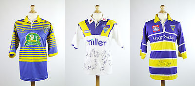 3x Signed Warrington Wolves Rugby League Tops