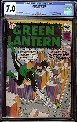 Green Lantern # 5 CGC 7.0 OW/W pages (DC, 1961)