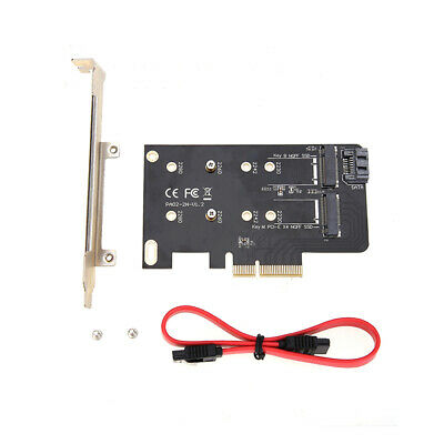 Dual M.2 (B Key and M Key) to PCI-E x4 and SATA 6G Expansion Card Adapter