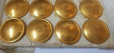 8   gilt on brass plain large buttons by cross swords maker mark England   2.8cm