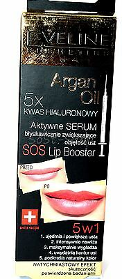 EVELINE SOS Lip Booster SERUM 5x Hyaluron  + Arganöl. 12ml