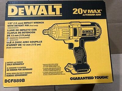 "Dewalt DCF889B 1/2"" 20 Volt 20V Max High Torque Impact Wrench Brand New Sealed"