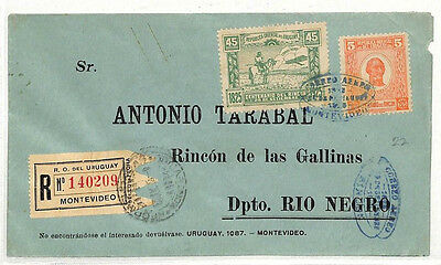 MM10 1925 Uruguay EARLY AIRMAIL Montevideo Cover Rio Negro {samwells-covers}
