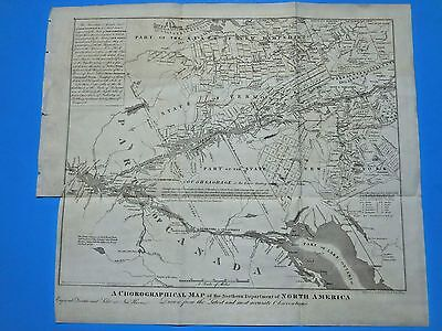ANTIQUE MAP OF OF NORTHERN DEPT. OF NORTH AMERICA 1849, by JOHN GAVIT, ALBANY
