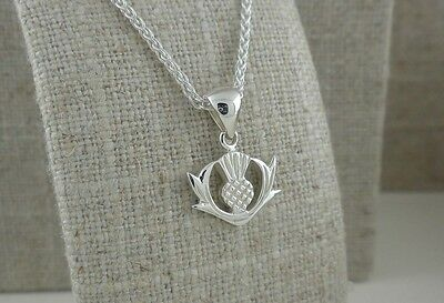 Sterling Silver Scottish Thistle Pendant Keith Jack