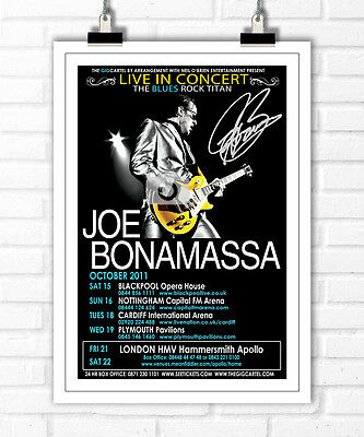 Joe Bonamassa Autographed Signed Photo Print