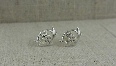 Sterling Silver Scottish Thistle EARRINGS Keith Jack