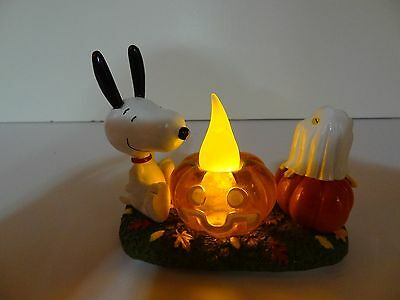 NEW Dept 56 Peanuts Snoopy SNOOPY'S PUMPKIN SURPRISE Resin Figurine 4037419 BOO