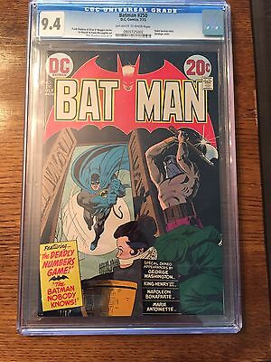 Batman Comic 250 CGC 9.4!! Dick Giordano Cover & Art!  Off White To White Pages!